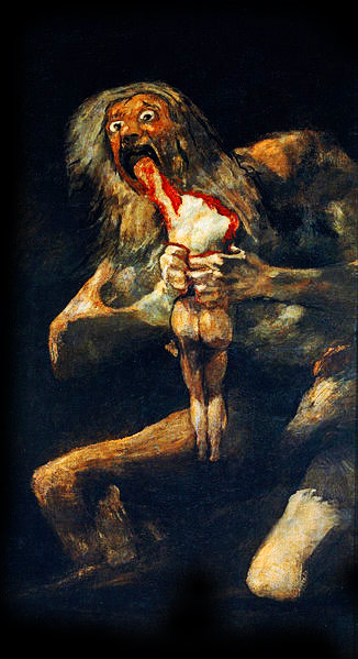 'Saturn Devouring His Son' - a painting by Spanish artist Francisco Goya.