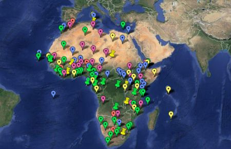 The U.S. Military's Pivot to Africa, 2012-2013  ©2013 TomDispatch ©Google