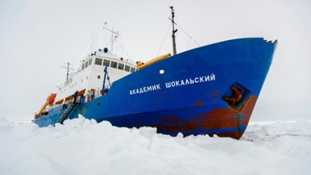 The MV Akademik Shokalskiy.